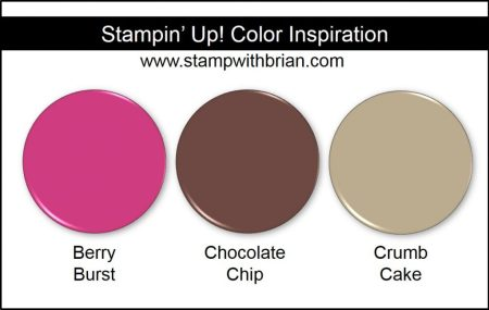 Stampin' Up! Color Inspiration: Berry Burst, Chocolate Chip, Crumb Cake