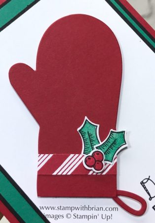 Many Mittens Framelits Dies, The Little Things, Holly Berry Happiness, Stampin' Up!, Brian King, baking card