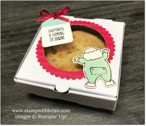 Santa's Suit, Hang Your Stocking, pizza box, Stampin' Up!, Brian King