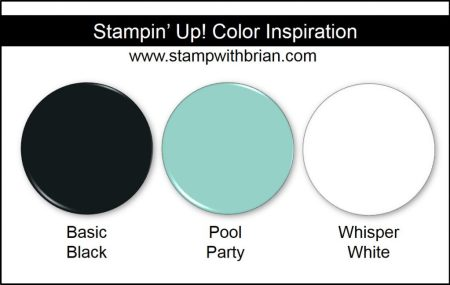 Stampin' Up! Color Inspiration: Basic Black, Pool Party, Whisper White