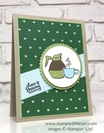 Coffee Break Designer Series Paper, Merry Cafe, Stampin' Up!, Brian King