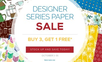 Buy 3, Get 1 Free Designer Series Paper Sale