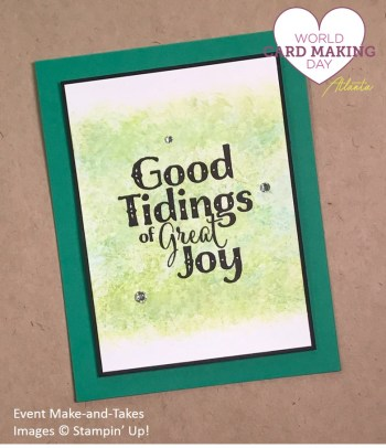 Good Tidings, WCMD2017 Make-and-Take, Stampin' Up!