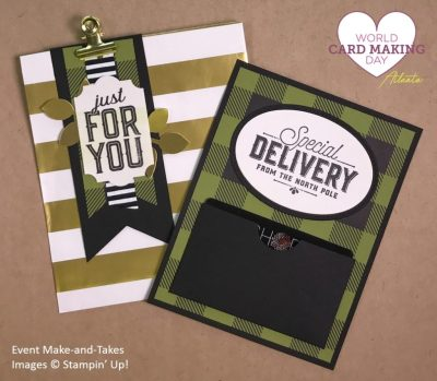 Merry Little Labels, Gift Card Holder, WCMD2017 Make-and-Take, Stampin' Up!