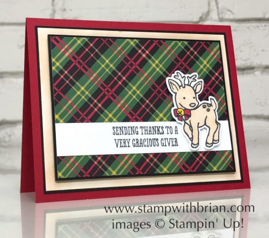 Seasonal Chums, Thankful Thoughts, Stampin' Up!, Brian King, Christmas thank you card