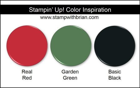 Stampin' Up! Color Inspiration: Real Red, Garden Green, Basic Black
