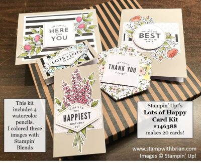 Lots of Happy Card Kit, Stampin' Up!, Brian King