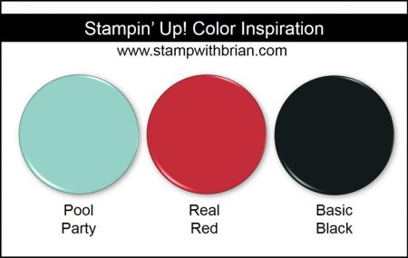 Stampin' Up! Color Inspiration: Pool Party, Real Red, Basic Black