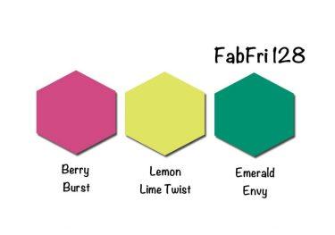 Stampin' Up! Color Inpsiration: Berry Burst, Lemon Lime Twist, Emerald Envy