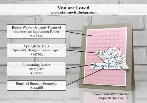 Blossoming Basket, Springtime Foil Specialty Designer Series Paper, Stampin' Up!, Brian King