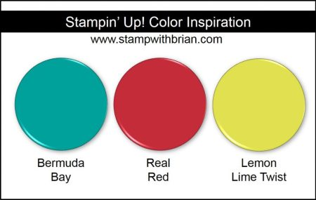 Stampin' Up! Color Inspiration: Bermuda Bay, Real Red, Lemon Lime Twist