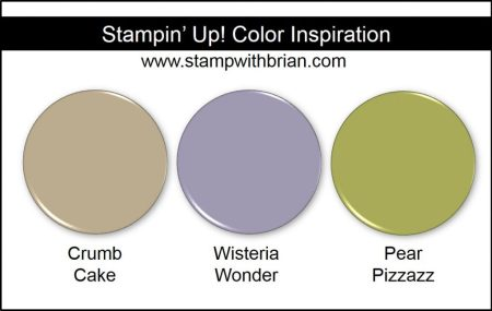 Stampin' Up! Color Inspiration: Crumb Cake, Wisteria Wonder, Pear Pizzazz