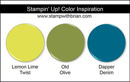Stampin' Up! Color Inspiration: Lemon Lime Twist, Old Olive, Dapper Denim