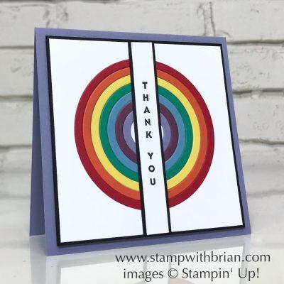 Rainbow Builder Framelits Dies, Vertica Greetings, Stampin' Up!, Brian King