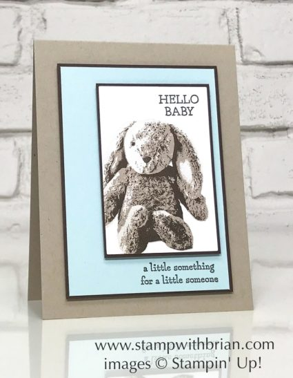 Sweet Little Something, Moon Baby, Stampin' Up!, Brian King, baby card