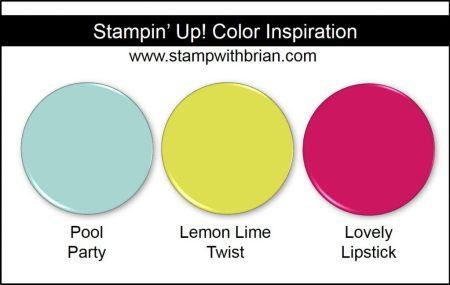 Stampin' Up! Color Inspiration: Pool Party, Lemon Lime Twist, Lovely Lipstick