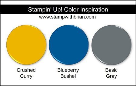 Stampin' Up! Color Inspiration: Crushed Curry, Blueberry Bushel, Basic Gray