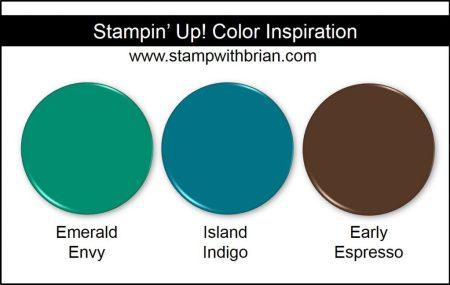 Stampin' Up! Color Combination: Emerald Envy, Island Indigo, Early Espresso