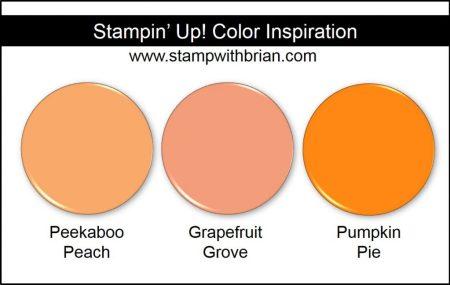 Grapefruit Grove Comparison, Stampin' Up! 2018-2020 In Color: Peekaboo Peach, Pumpkin Pie