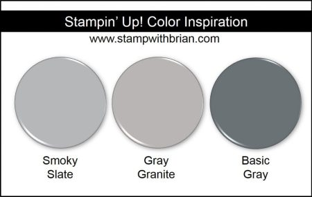Gray Granite Comparison, Stampin' Up! New Color: Smoky Slate, Basic Gray