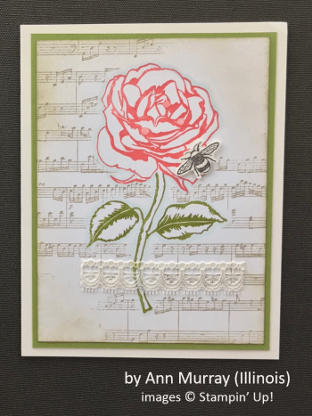 by Ann Murray, Stampin' Up!, Spring One-for-One Card Swap