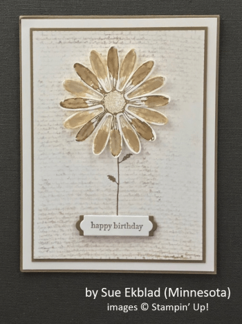 by Sue Ekblad, Stampin' Up!, Spring One-for-One Swap
