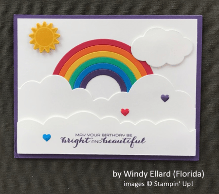 by Windy Ellard, Stampin' Up!, Spring One-for-One Card Card Swap