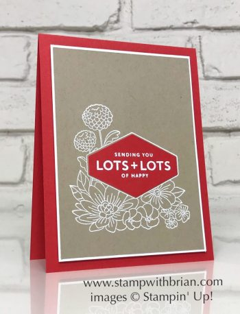 Accented Blooms, Lots of Happy Card Kit, Stampin' Up!, Brian King