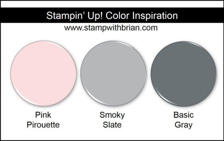Stampin' Up! Color Inspiration: Pink Pirouette, Smoky Slate, Basic Gray