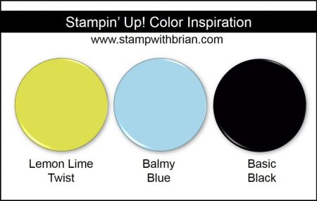 Stampin' Up! Color Inspiration: Lemon Lime Twist, Balmy Blue, Basic Black