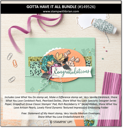 Gotta Have it All Bundle, Stampin' Up!, 149526