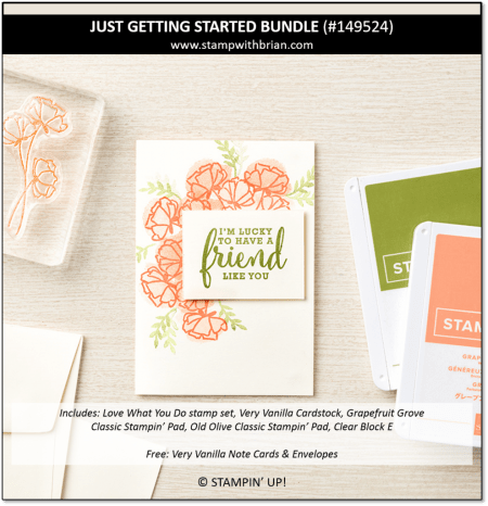 Just Getting Started Bundle, Stampin' Up!, 149524