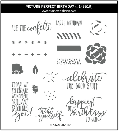 Picture Perfect Birthday, Stampin' Up!, 145519
