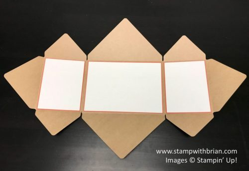 Step 2 - Explosion Fold Card with Envelope Punch Board, Stampin' Up!, Brian King