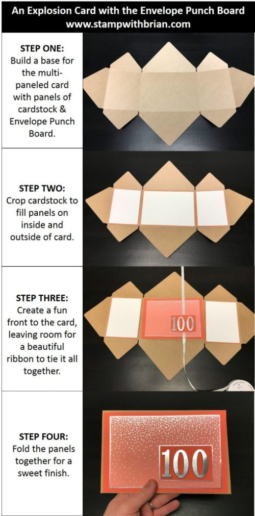 Steps to Make an Explosion Card, Stampin' Up!, Brian King