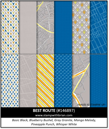 Best Route Designer Series Paper, Stampin' Up! 146897