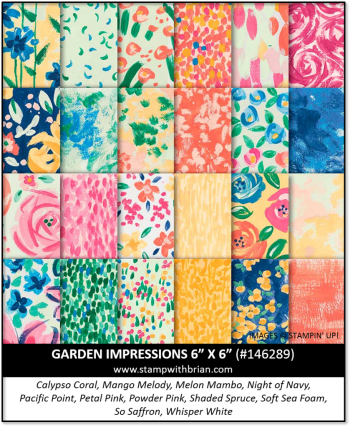 Garden Impressions Designer Series Paper, Stampin' Up! 146289