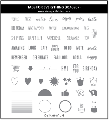 Tabs for Everything, Stampin' Up! 143907