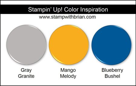 Stampin' Up! Color Inspiration: Gray Granite, Mango Melody, Blueberry Bushel