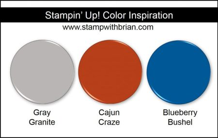 Stampin' Up! Color Inspiration: Gray Granite, Cajun Craze, Blueberry Bushel