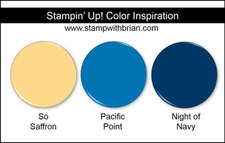 Stampin' Up! Color Inspiration: So Saffron, Pacific Point, Night of Navy