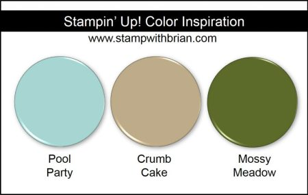 Stampin' Up! Color Inspiration: Pool Party, Crumb Cake, Mossy Meadow
