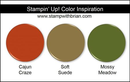 Stampin' Up! Color Inspiration: Cajun Craze, Soft Suede, Mossy Meadow