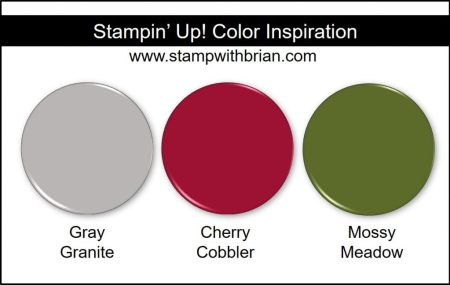 Stampin' Up! Color Inspiration: Gray Granite, Cherry Cobbler, Mossy Meadow