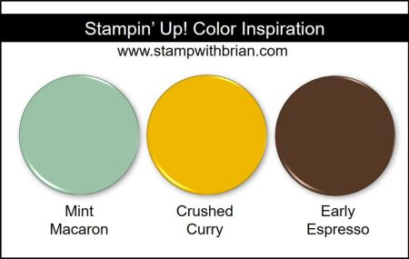 Stampin' Up! Color Inspiration: Mint Macaron, Crushed Curry, Early Espresso