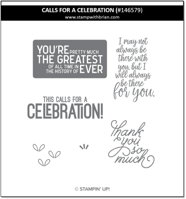 Calls for a Celebration, Stampin' Up! 146579