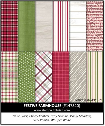 Festive Farmhouse Designer Series Paper, Stampin' Up! 147820