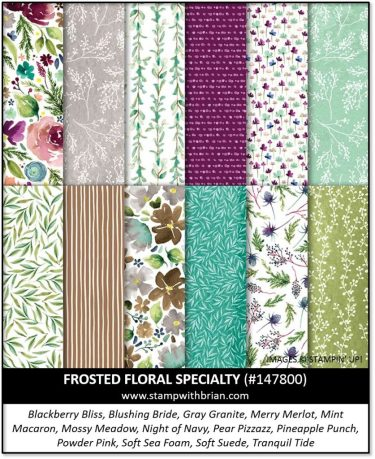 Frosted Floral Specialty Designer Series Paper, Stampin' Up! 147800