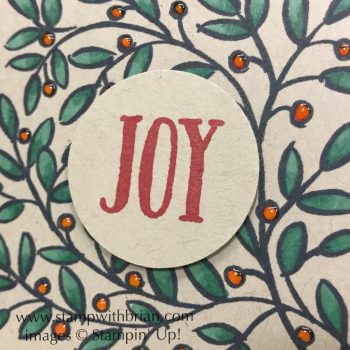 Feathers & Frost, Stampin' Up!, Brian King, Christmas card