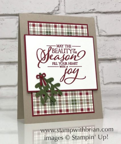 Merry Christmas to All, Stampin' Up!, Brian King, Christmas card